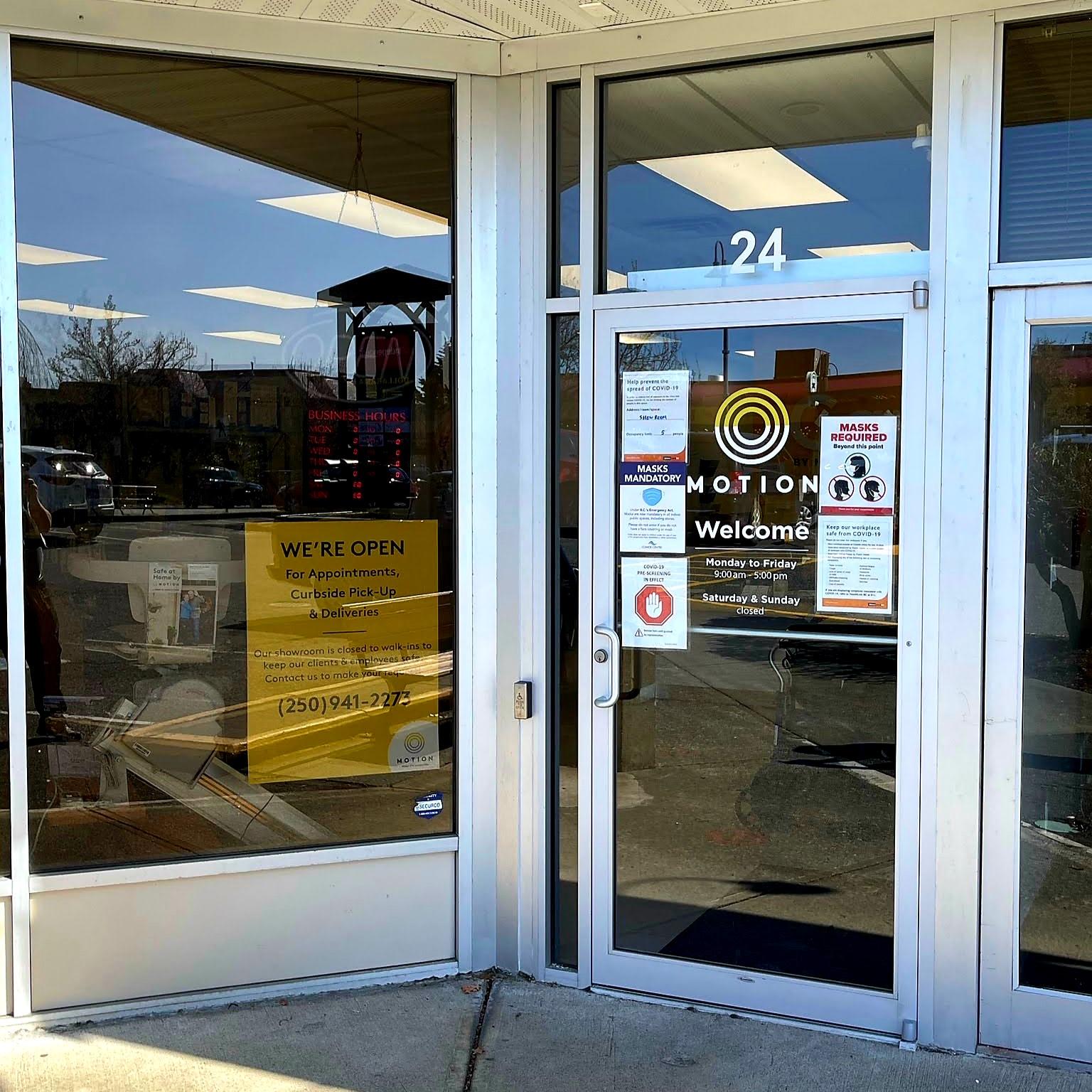 Comox store entrance