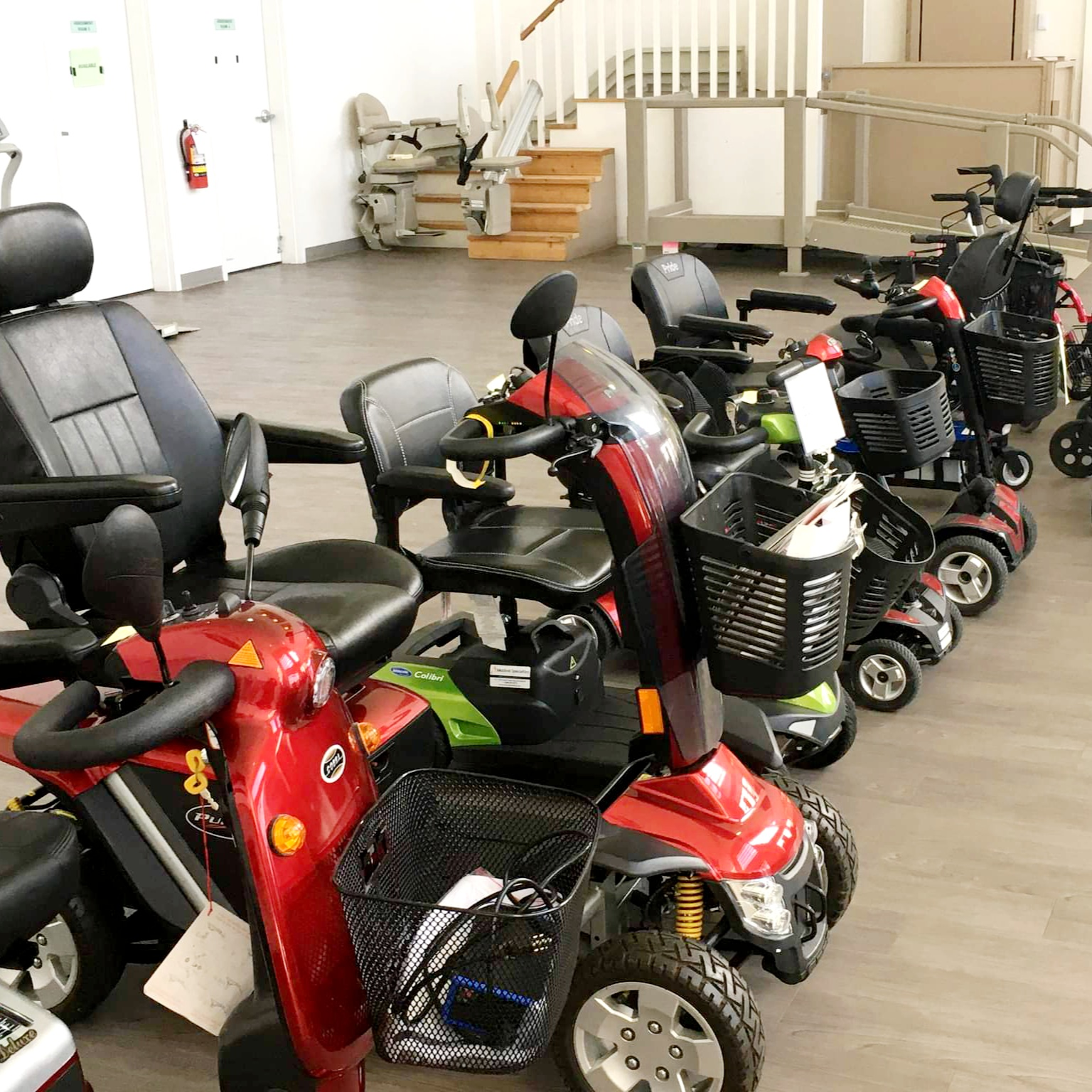 Vancouver mobility scooters in showroom