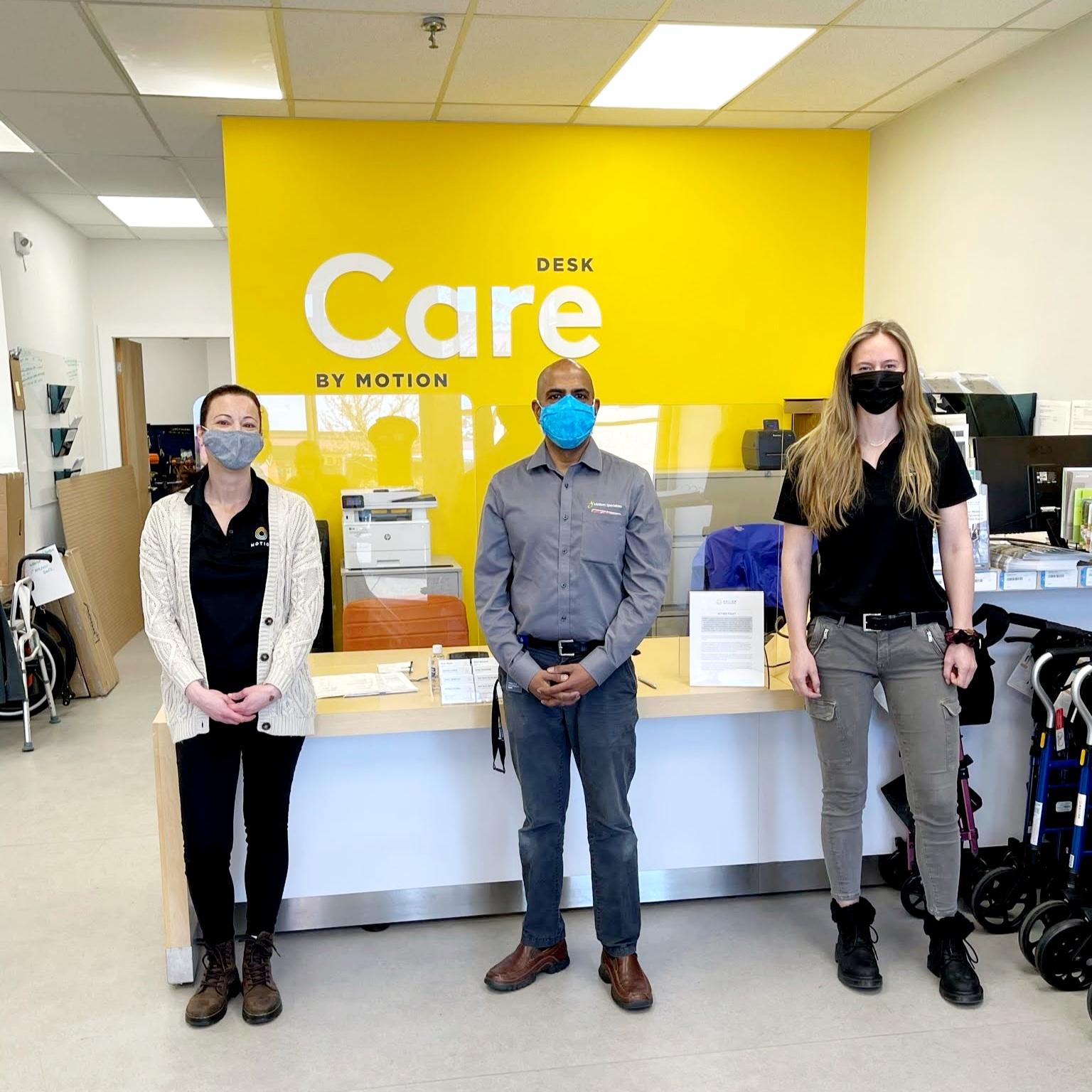 Comox care desk with team members
