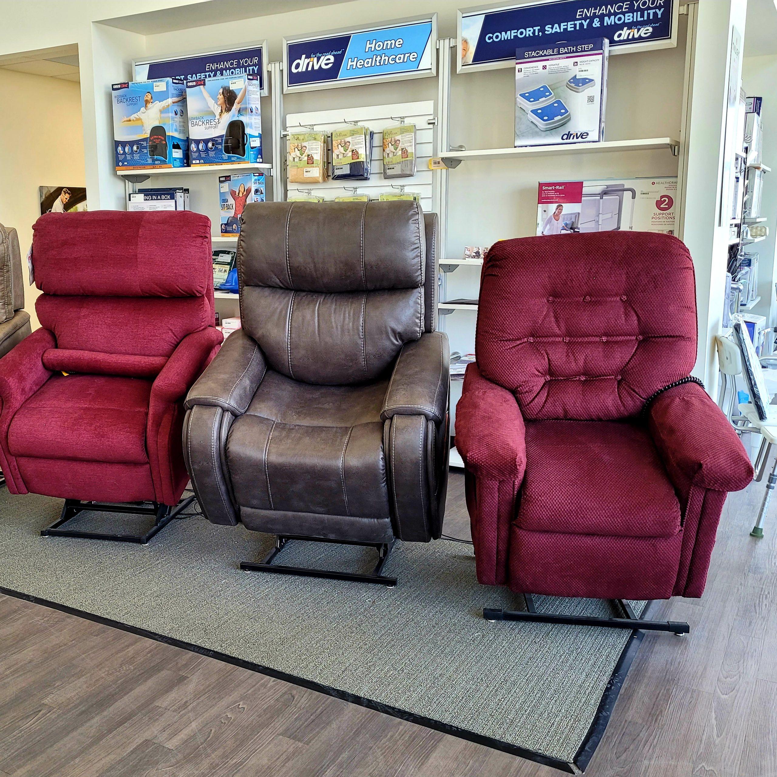 Barrie showroom - power lift recliners
