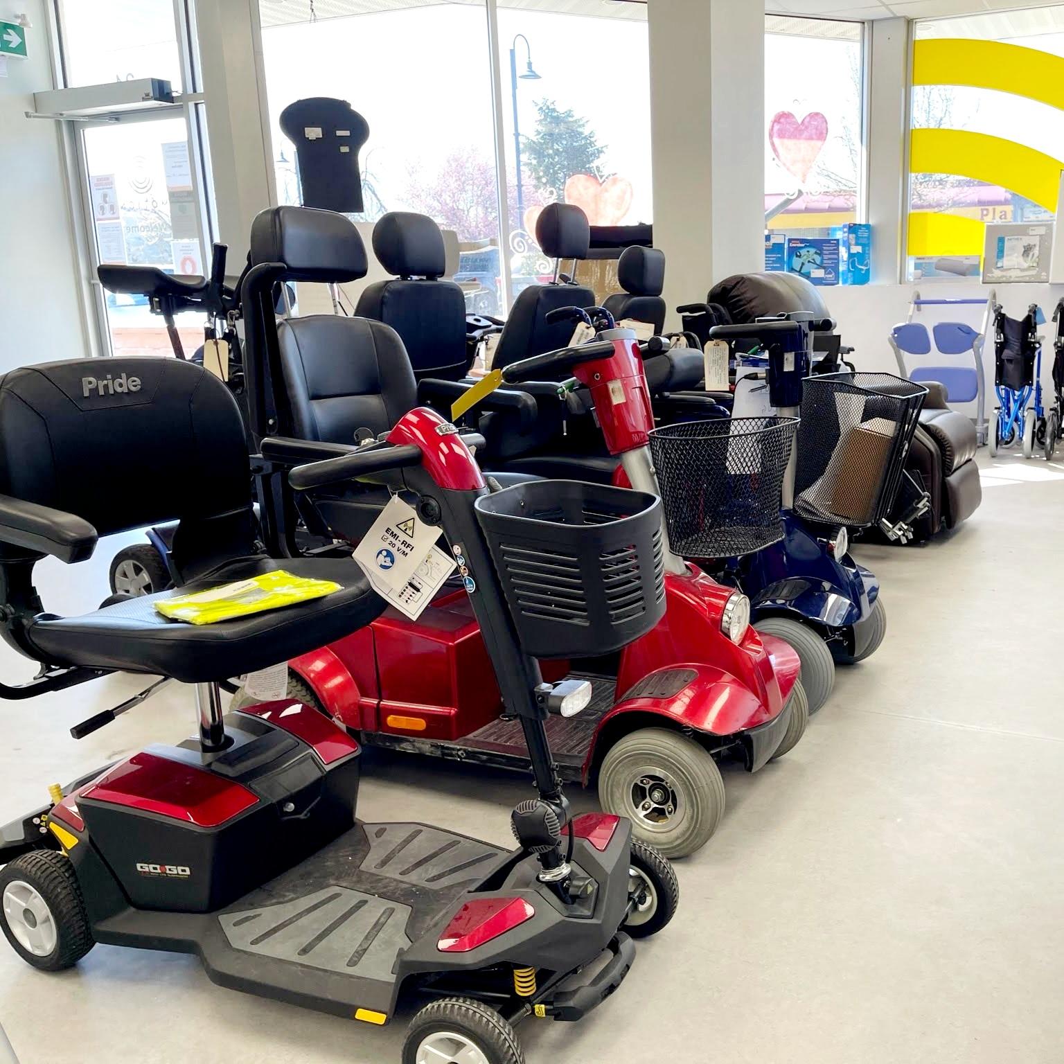 Comox showroom - mobility scooter display