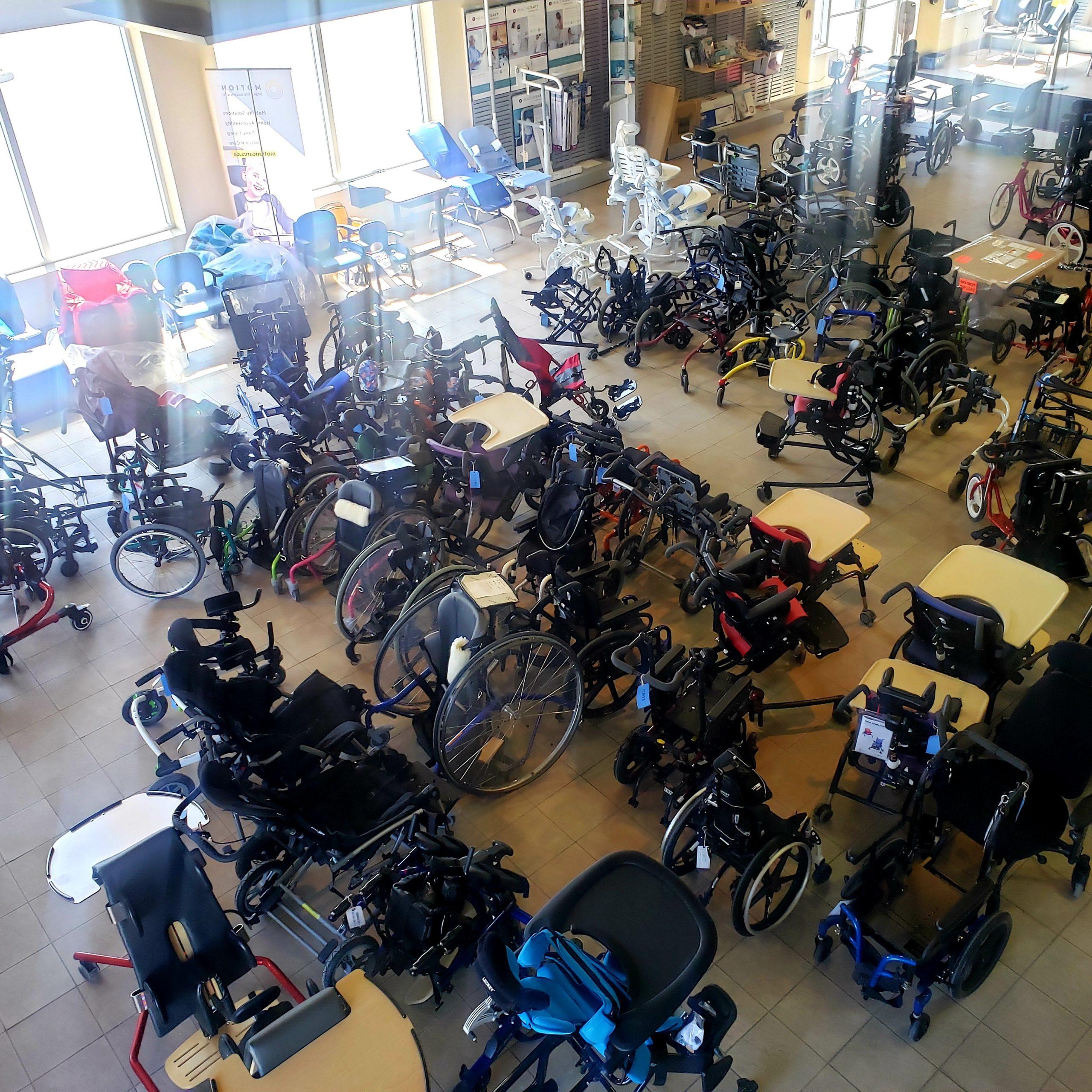 Arial view of Ottawa showroom