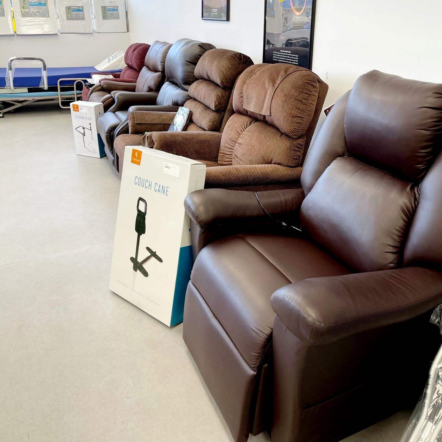 Comox showroom - power lift recliner display