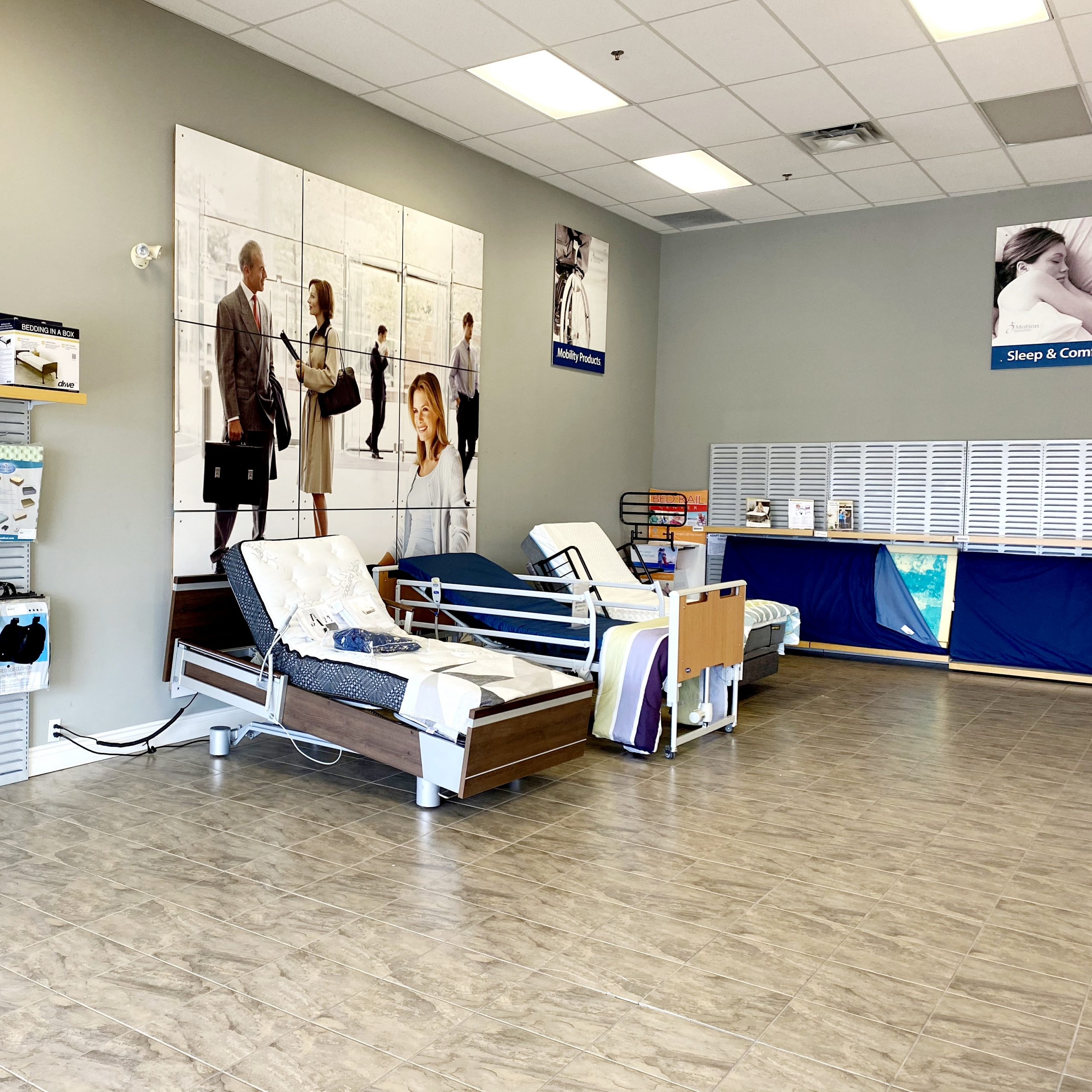 St. Catharines home care bed display in showroom