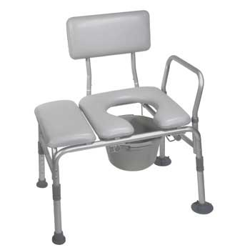 Combo Padded Transfer Bench & Commode