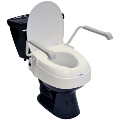 A900 Toilet Seat Raiser with Lid & Armrests