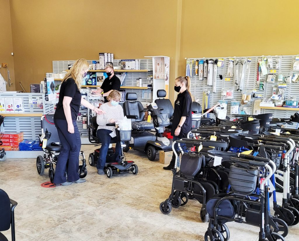 Showroom of mobility devices