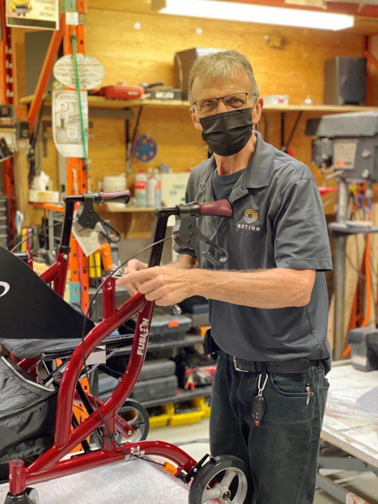 Man repairing devices