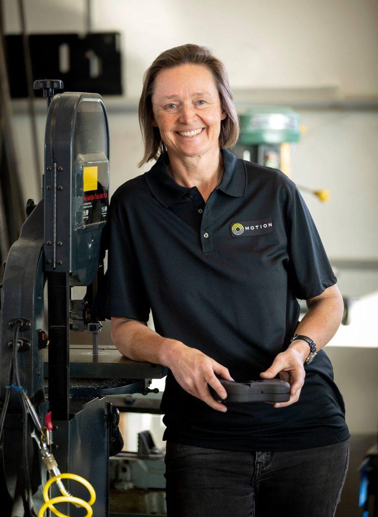 Woman Motion employee in warehouse