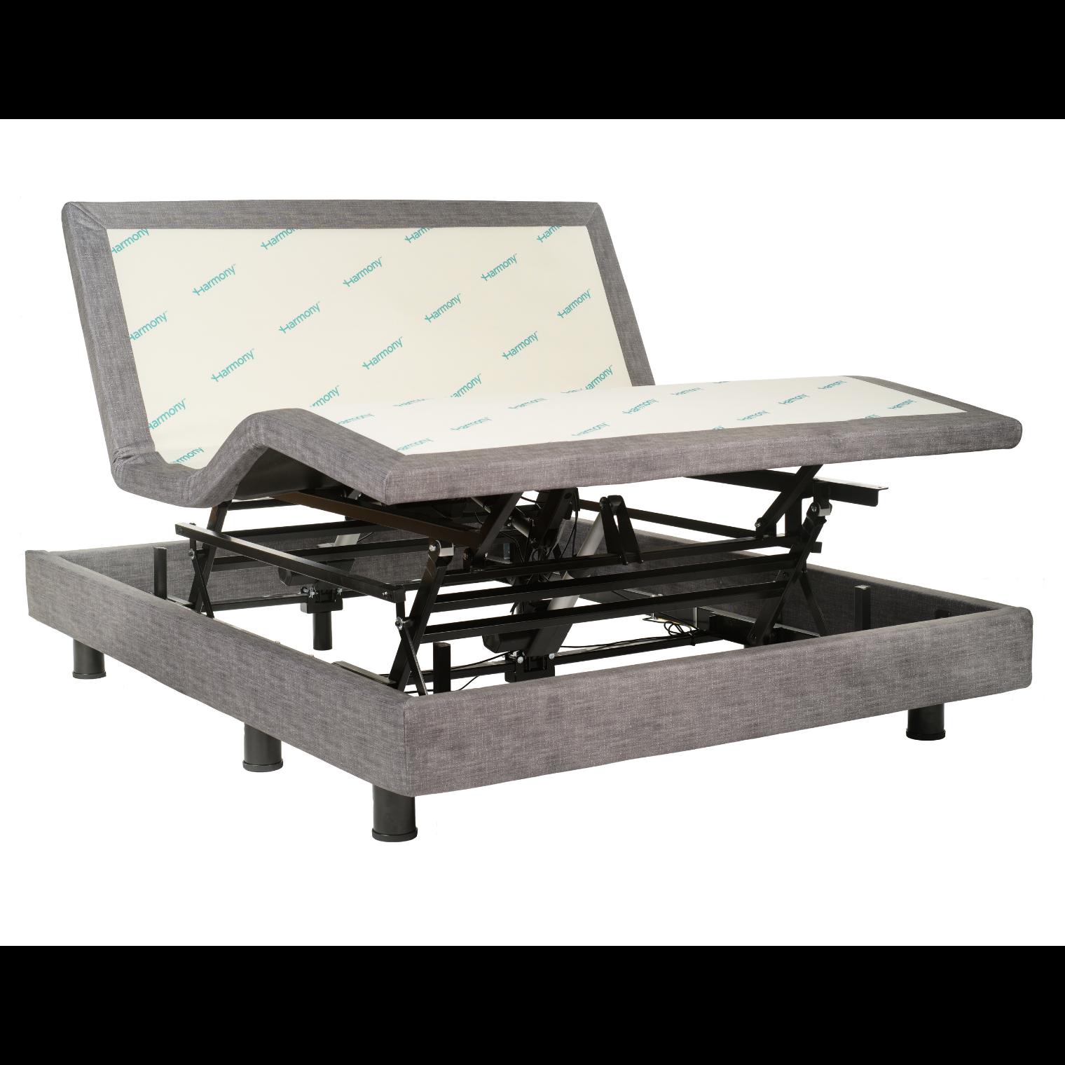 Hi-low adjustable bed base